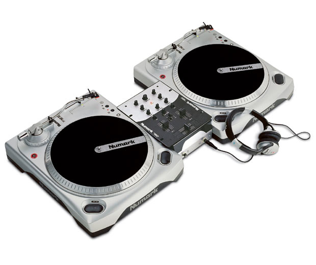Turntables and a Mixer